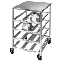 Channel CSR-44M Heavy-Duty Half Size Mobile Aluminum Can Rack for #10 and #5 Cans with Aluminum Top