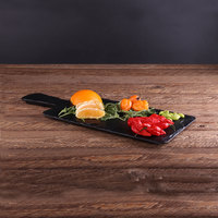 Elite Global Solutions M127RC Fo Slate 12 inch x 7 inch Faux Slate Serving Board with Handle