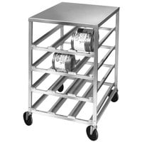 Channel CSR-4MS Half Size Mobile Aluminum Can Rack for #10 and #5 Cans with Stainless Steel Top