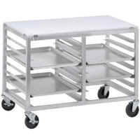 Channel DS2410/P 10 Pan End Load Undercounter Prep Top Double Sheet / Bun Pan Rack - Assembled