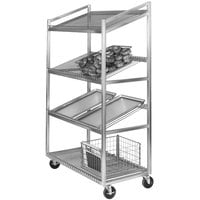 Channel SORT-4 47 inch x 24 inch 4 Shelf Angled Merchandising Cart