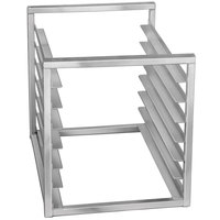 Channel RIR-7 7 Pan Aluminum End Load 20 1/2 inch x 23 inch x 23 inch Sheet / Bun Pan Rack for Reach-Ins - Assembled
