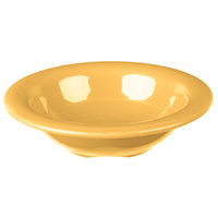 Carlisle 3304222 Sierrus 4.5 oz. 4 3/4 inch Honey Yellow Rimmed Melamine Fruit Bowl   - 48/Case