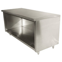 Advance Tabco EB-SS-305 30 inch x 60 inch 14 Gauge Open Front Cabinet Base Work Table