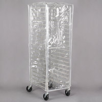 Regency 63 inch Clear 14 Mil Plastic Bun Pan Rack Cover