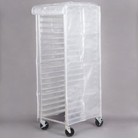 Regency 63 inch Translucent 20 Mil Plastic Bun Pan Rack Cover