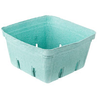 EcoChoice 2.5 Qt. Green Molded Pulp Berry / Produce Basket - 10 / Pack