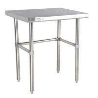 Regency 30 inch x 30 inch 16-Gauge 304 Stainless Steel Commercial Open Base Work Table