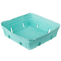 EcoChoice 1.5 Qt. Green Molded Pulp Berry / Produce Basket - 10/Pack