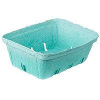 EcoChoice 2 Qt. Green Molded Pulp Berry / Produce Basket - 10/Pack