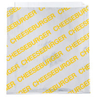 Carnival King 6 inch x 1 inch x 6 1/2 inch Large Cheeseburger Bag - 1000/Case
