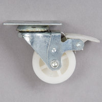 Avantco 360ICFFCSTRB 1 inch Swivel Plate Caster with Brake