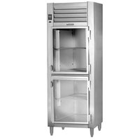 Traulsen AHT132NUT-HHG 21.9 Cu. Ft. One Section Narrow Glass Half Door Reach In Refrigerator - Specification Line