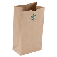 Duro Husky Heavy-Duty 2 lb. Brown Paper Bag - 500/Bundle