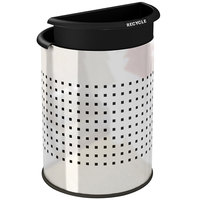 Commercial Zone 780931 Precision 3.2 Gallon Stainless Steel InnRoom Recycler Trash Receptacle with Black Liners