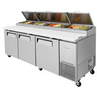 Turbo Air TPR-93SD 93 inch Three Door Pizza Prep Table