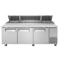 Turbo Air TPR-93SD 93 inch 3 Door Pizza Prep Table