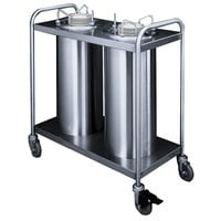 APW Wyott TL3-6.5 Trendline Mobile Unheated Three Tube Dish Dispenser for 5 7/8 inch to 6 1/2 inch Dishes