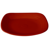Homer Laughlin 919326 Fiesta Scarlet 10 3/4 inch Square Plate - 12/Case