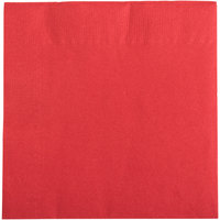 Choice 10 inch x 10 inch Red 2-Ply Beverage / Cocktail Napkins - 250/Pack