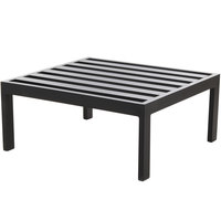 BFM Seating PH6106BL Belmar Black Aluminum Ottoman