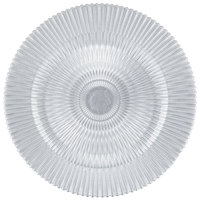 The Jay Companies 13 inch Round Silver Genesis Glass Charger Plate