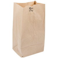 Duro 25 lb. Shorty Brown Paper Bag - 500/Bundle