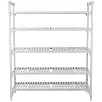 Cambro Camshelving Premium CPU185484V5PKG480 Shelving Unit with 5 Vented Shelves 18 inch x 54 inch x 84 inch