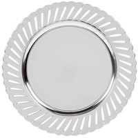 The Jay Companies 13 inch Round Silver Track Polypropylene Charger Plate