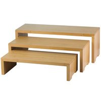 Tablecraft RBAM300 Bamboo 3-Piece Cascade Riser Set