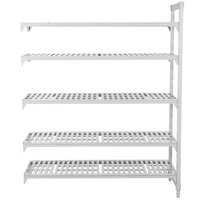 Cambro Camshelving Premium CPA186084V5PKG480 Vented Add On Unit 18 inch x 60 inch x 84 inch - 5 Shelf