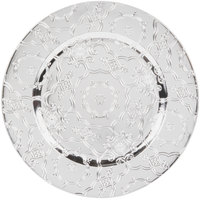The Jay Companies 13 inch Round Silver Vintage Polypropylene Charger Plate