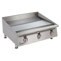 Star 848TSCHSA Ultra Max 48 inch Countertop Gas Griddle with Snap Action Thermostatic Controls and Chrome Plate - 160,000 BTU
