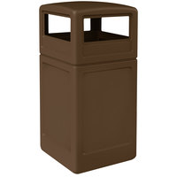 Commercial Zone 73293799 PolyTec 42 Gallon Brown Waste Container and Dome Lid Set