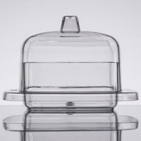 Fineline 6701-CL Tiny Temptations 2.2 oz. Clear Square Tray with Lid - 120/Case