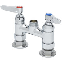T&S B-0225-LN Deck Mounted Pantry Faucet with 4 inch Adjustable Centers, Swivel Outlet, and Eterna Cartridges