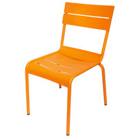 BFM Seating MS802CCT Beachcomber Citrus Stackable Aluminum Outdoor / Indoor Side Chair