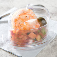 Fineline 6702-CL Tiny Temptations 2.5 oz. Clear Oval Tray with Lid   - 120/Case