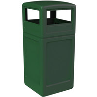 Commercial Zone 73295399 PolyTec 42 Gallon Green Waste Container and Dome Lid Set