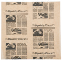 American Metalcraft PPCN1212 12 inch x 12 inch Natural Newspaper Print Deli Sandwich Wrap Paper   - 1000/Pack