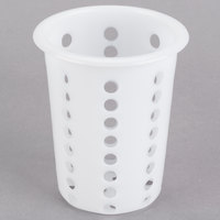 White Perforated Plastic Flatware Cylinder