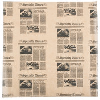 American Metalcraft PPCN1616 16 inch x 16 inch Natural Newspaper Print Deli Sandwich Wrap Paper   - 1000/Pack