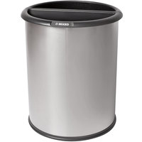 Commercial Zone 781029 Precision 12.8 Qt. / 3.2 Gallon Classic Stainless Steel InnRoom Recycler Trash Receptacle / Wastebasket with Black Liners