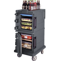 Cambro UPC600191 Granite Gray Camcart Ultra Pan Carrier - Front Load