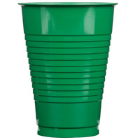 Creative Converting 28112071 12 oz. Emerald Green Plastic Cup - 20/Pack