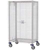 Metro MQSEC53DE 28 inch x 41 inch x 68 inch MetroMax Q Stem Caster Mobile Security Unit