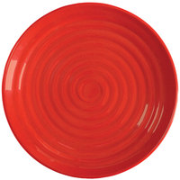 GET ML-83-RSP 12 1/2 inch Red Sensation Melamine Round Plate - 12/Pack