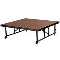 National Public Seating TFXS48481624HB Transfix 48 inch x 48 inch Adjustable Hardboard Portable Stage - 16 inch to 24 inch Height
