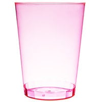 Fineline Savvi Serve 410-RD 10 oz. Tall Neon Red Hard Plastic Tumbler - 20/Pack