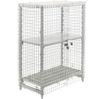 Cambro CPMU244867FXPKG Camshelving® Stainless Steel Security Cage - 26 3/4 inch x 50 1/4 inch x 61 1/2 inch